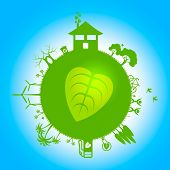Planets Eco Shows Earth Friendly And Eco-friendly
