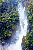 Pailon Del Diablo - Mountain River And Waterfall In The Andes. Banos. Ecuador