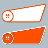 Two Orange Boxes For Any Text With Quotation Mark