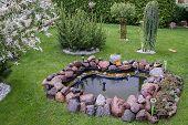 Beautiful Garden With Fountain