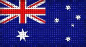Flag Of Australia On Led Display