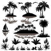 stock photo of boat  - Tropical set - JPG