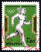 Postage Stamp Bolivia 1969 Woman Runner