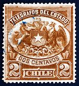 Postage Stamp Chile 1904 Coat Of Arms Of Chile