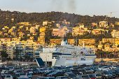 Nice, France, on July 1, 2011. City port of Nice.