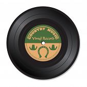 Country music vinyl record