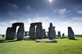 stock photo of pagan  - stonehenge ancient stone cirle in wiltshire england - JPG