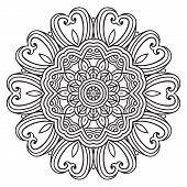 picture of doilies  - Contemporary doily round lace floral pattern card - JPG