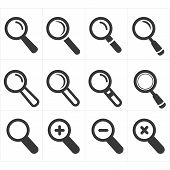 icon search and magnifier