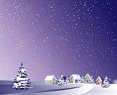 Vector of winter landscape