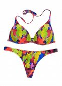picture of one piece swimsuit  - Bright colored swimsuit - JPG