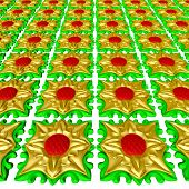Tile  Gold And Green