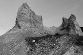 Majestic  rocks in B&W