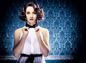 Beautiful Woman In Vintage Room Toned Image