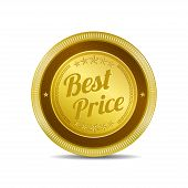 Best Price Glossy Shiny Circular Vector Button
