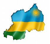 Rwanda Flag Map
