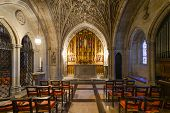 WASHINGTON D.C.  - JUNE 15, 2014: Interior view of National Cathedral in Washington. The Cathedral i