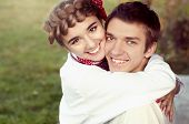 Young Ukrainian Couple In Traditional Clothes
