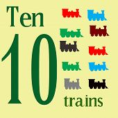 Ten Toy Trains