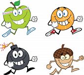 Cartoon Character Jogging - 2. Collection Set