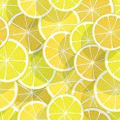 Citrus seamless background. Lemon