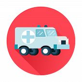 picture of ambulance car  - ambulance car icon flat isolated vector trendy - JPG