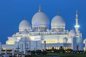 Sheikh Zayed Mosque By Night