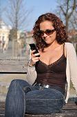 Young Beautiful Woman Messaging