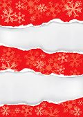 Red Christmas Torn Paper Background
