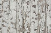 White Paint Peeling Off Grunge Wood Wall