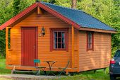 picture of house woods  - house in the woods at norwegian camp - JPG