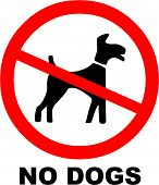 picture of dog poop  - Vector Illustration of the No Dogs Symbol - JPG