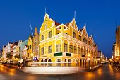 picture of curacao  - Downtown Willemstad at twilight - JPG