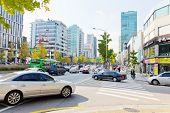 Garosugil in Sinsa-dong,Seoul, Republic of Korea