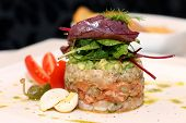 Tasty salmon tartar