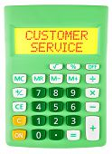Calculator With Customer Service On Display
