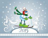 Christmas sheep.Christmas background