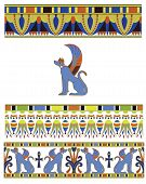 pic of ankh  - Traditional bright Egyptian ornament set and symbol - JPG
