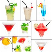 Cocktails Collage