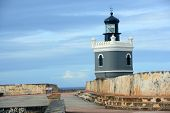 stock photo of el morro castle  - Castillo San Felipe del Morro El Morro Lighthouse - JPG