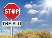 picture of immune  - flu vaccination shot stop the virus vaccine for immunization - JPG