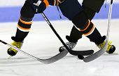 Постер, плакат: Ice Hockey Players On Rink