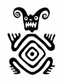 image of bestiality  - black monster in native style - JPG