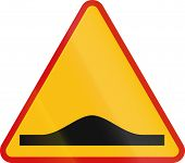 image of bump  - A Polish sign indicating speed bumps  - JPG