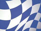 Blue Checkered Waving Flag
