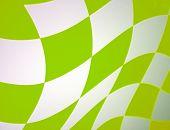 Green Checkered Racing Flag