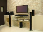 pic of home theater  - home theater tv tft dvd electronics interior - JPG