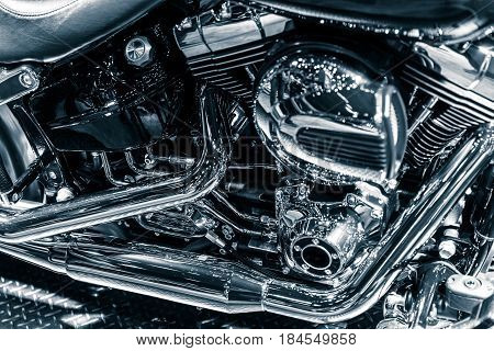 Motorcycle Chromium Engine Exhaust Pipes