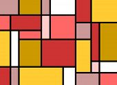 colorful rectangles in mondrian style poster