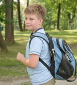 Boy With A Backpack poster